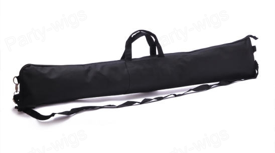 42 nylon fabric fishing rod carrying zippered case strap for Fishing rod case carrier storage bag