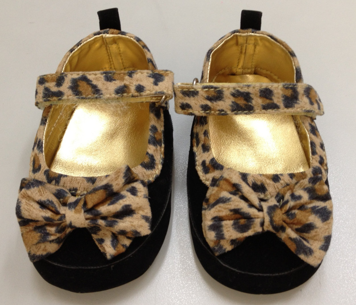 New-Infant-Baby-Winter-Girls-Toddler-Black-Leopard-Pattern-Children-Shoes