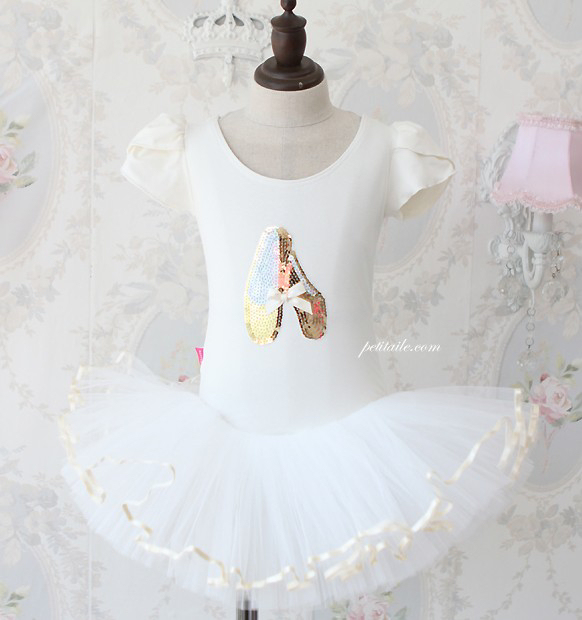 Girls-Party-Dance-Ballet-Tutu-Dress-Costume-3-8y-White-Leotard-Color-Pettiskirt