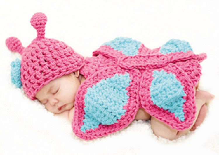 New Born Baby Girls Boys Crochet Knit Costume Photo Photography Prop Outfits
