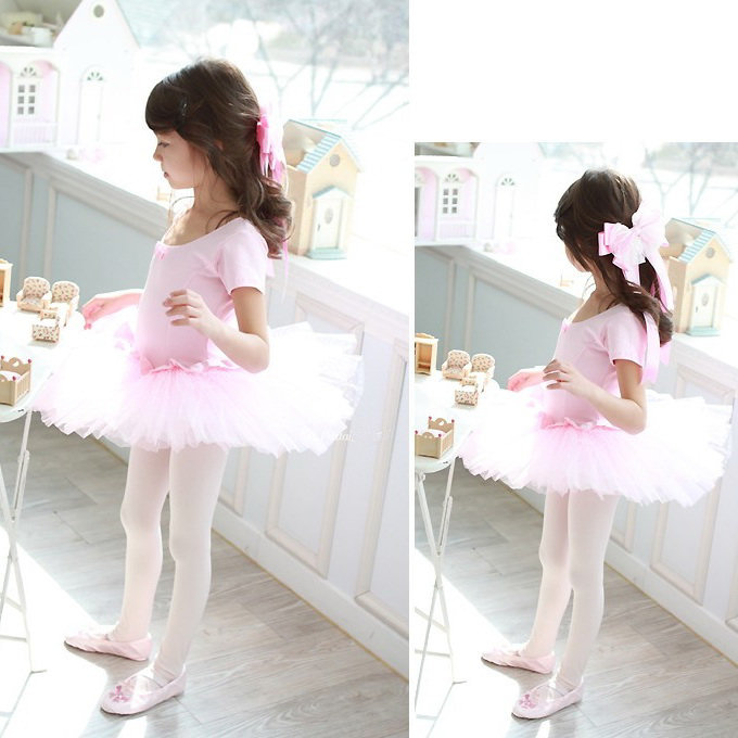 Girls Party Dance Ballet Tutu Dress Costume 3 8 T Pink Leotard Pettiskirt